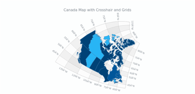 Canada Map with Crosshair and Grids | Maps General Features | AnyChart