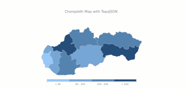 Choropleth Map with TopoJSON | Maps General Features | AnyChart