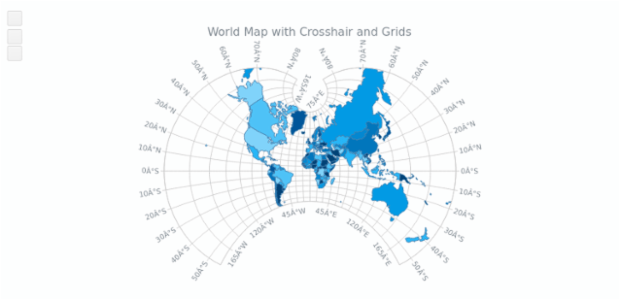 World Map with Crosshair and Grids | Maps General Features | AnyChart