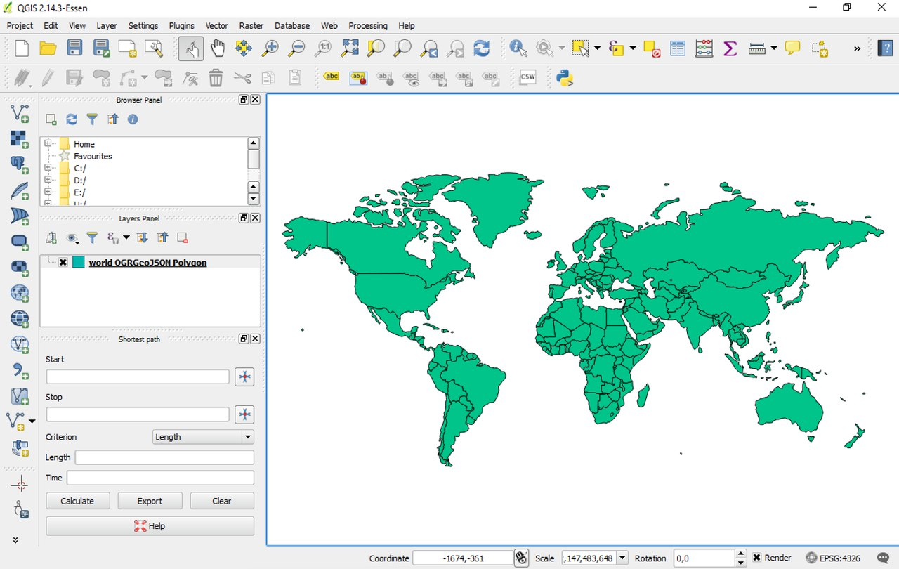 Custom GeoJson Maps Maps AnyChart Documentation - I need a world map