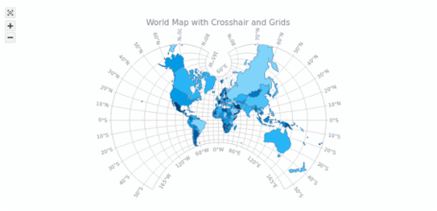 Maps general features anymap gallery anychart world map with crosshair and grids maps general features anymap gallery anychart gumiabroncs Gallery