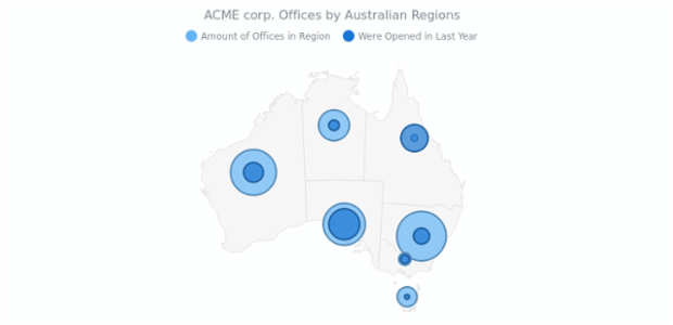 ACME corp. Offices Map | Maps Bubble | AnyMap Gallery | AnyChart