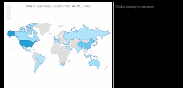 World Business Locator   Maps Choropleth   AnyMap Gallery   AnyChart