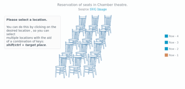 Chamber theater | Seat Maps | AnyMap Gallery | AnyChart