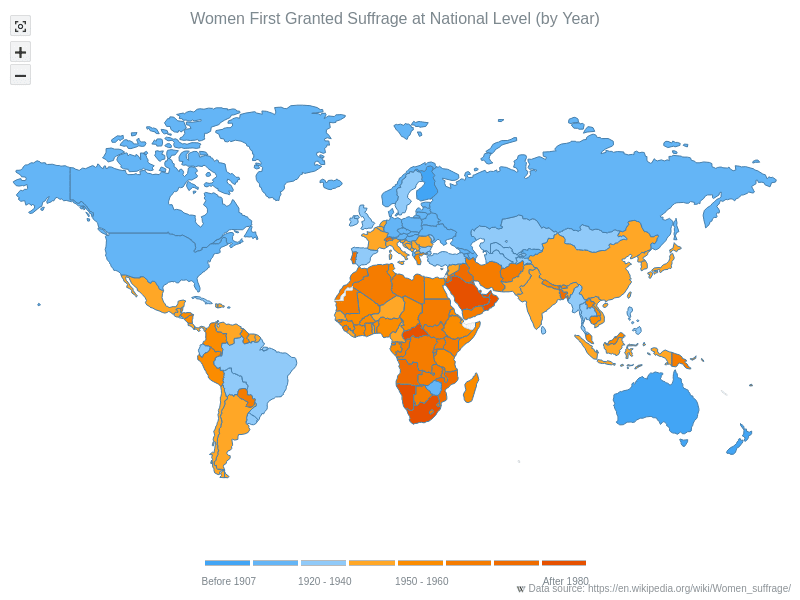 Maps Choropleth | AnyMap Gallery | AnyChart
